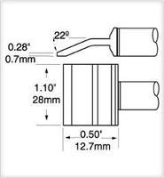 Tweezer Cartridge  Blade  28mm  1 1  PTTC 607