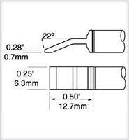 Tweezer Cartridge  Blade  6 35mm  0 25  PTTC 704