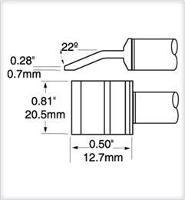 Tweezer Cartridge  Blade  20 6mm  0 8  PTTC 706