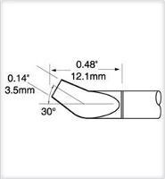 Tweezer Cartridge  Bent 30   3 2mm PTTC 808B
