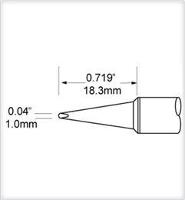 Chisel Tip  1mm  0 039  SCV CH10A