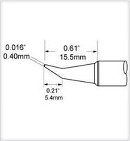 Conical Tip  Bent  0 4mm  0 016  SCV CNB04A