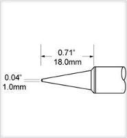 Conical Tip  Long  1mm  0 039  SCV CNL10A