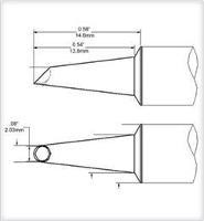 Conical Tip  Wave Hoof  2mm  0 079  SCV WV20