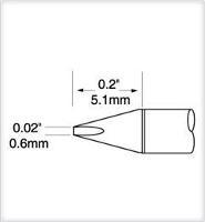 Ultrafine Cartridge  Chisel  0 6mm x 5mm UFTC 7CH06