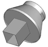 Nozzle  Square  4mm x 7mm  CSP  LGA44 HN B0707