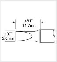 Chisel Tip  5mm   0197    Original SCV CH50AR