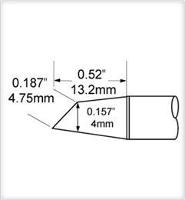 Hoof Tip  Drag  4mm  45 SCV DRH440A