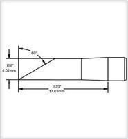 Hoof Tip  Drag  4mm  0 157    Original SCV DRH640AR