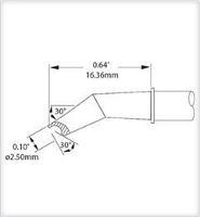 Cartridge  Hoof Concave  30  Bent  2 5mm SMTC 1183
