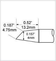 Hoof Tip  Drag  4 0mm   16    45 STV DRH440A