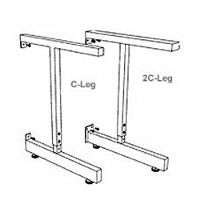 Adjustable C Leg for 30 D Worksurface 8280