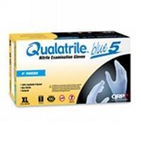 Blue Nitrile 9  Low Powder Gloves  LG BQP09 L