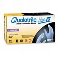 Qualatrile Blue Nitrile 9  PF Gloves  LG BQF09 L