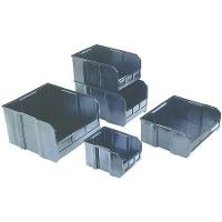 Black Conductive Stackable Bin QUS220CON