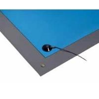 ESD Rubber Mat  Gray   2  x 4 6810