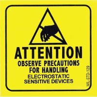 ESD Warning Label  2 x2   Roll of 500 129LABEL