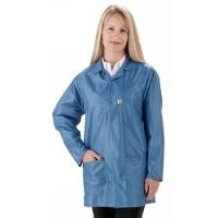 ESD Jacket w Short Sleeves  Blue   Large LEQ 43SS L