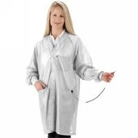 ESD Jacket w Cuffs  White   XL HOJ 13C XL