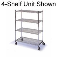 Complete Mobile Wire Shelving Units 646M