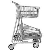 Shopping Cart   Double Basket 5341