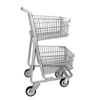 Express Cart   Double Basket 5141 D