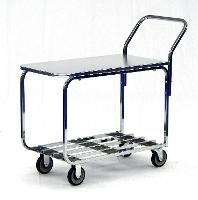 Chrome Table Cart   Solid Top 20 436ZT