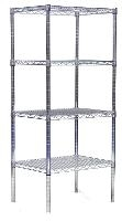 Chrome Wire Shelving Unit 18 x60 x63 866CH