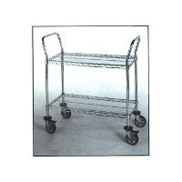 Chrome 2 Shelf Utility Cart  21  x 36 RD214CH