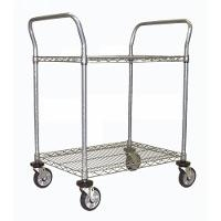Chrome 2 Shelf Utility Cart  24  x 36 RD244CH
