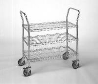 Chrome 3 Shelf Utility Cart   21  x 36 RD314CH
