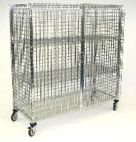 Mobile Security Cage 3 Shelf 24 x48 x69 MSEC483F