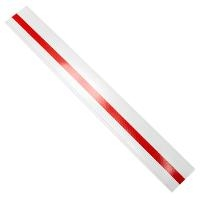 Duct Strips  White w Reflective  100pk DTSWR 2 18 100 WHITE