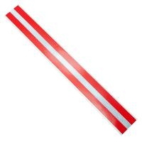 Duct Strips  Red w Reflective  100pk DTSWR 2 18 100 RED