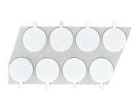 White 2  Foam Tape Circles    25 pk 2 25 FTC W