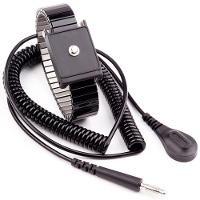 Metal Wrist Strap Set Black  6  Cord 4mm WB6037