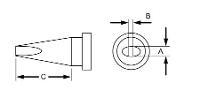 181  x  43  Reach Chisel LT Series Tip T0054440999N